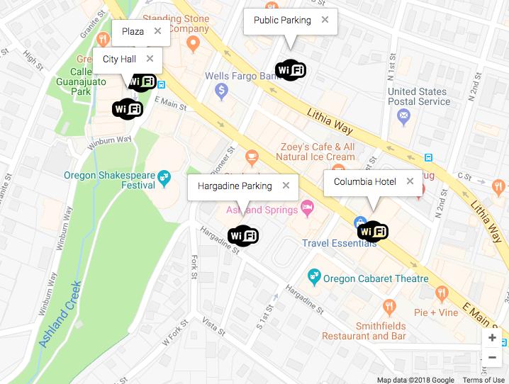 Community WiFi Locations | Ashland Fiber Network on